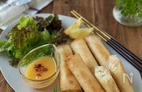 海老とクリームチーズのおつまみ春巻き