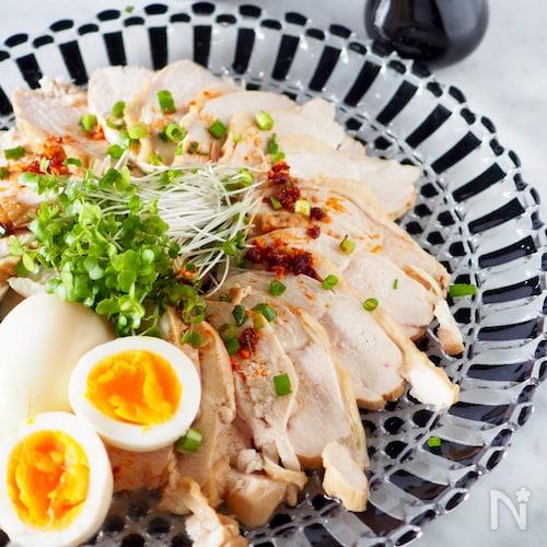 【鶏むね肉のしっとりチャーシュー】#作り置き#お弁当