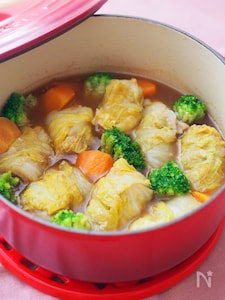 ロール白菜のカリーポトフ