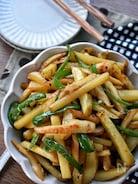 家族大絶賛♡秒で完食♡ポテトとピーマンの竹輪バター醤油炒め♡