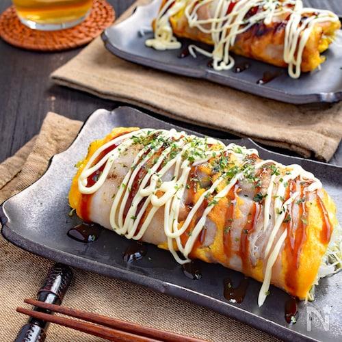 【材料3つで大満足◎】豚たまキャベツ焼き