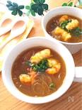 5分かからないでできちゃう♡むき海老と春雨のカレースープ