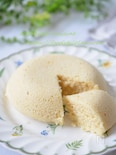 米粉とおからパウダーの蒸しケーキ☆レンジで3分!簡単おやつ