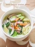豆乳で作る 長崎ちゃんぽん風スープ