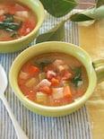 ころころ野菜とベーコンの塩麹スープ