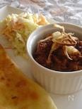 ルー不要!二人分のお豆とひき肉のカレー。