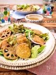 一皿で大満足!鶏肉と根菜の照り焼きおかずサラダ