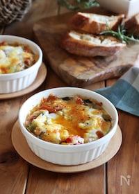『ラタトゥイユと卵のチーズ焼き』