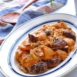 ジューシーチキンとえのきと椎茸のオーロラソース炒め