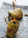 ズッキーニのサーモン&豆腐のパルミジャーノ・レッジャーノ前菜