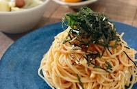 アマニ油で冷製たらこスパゲティ