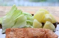 基本の鮭のムニエル レモンバターソースがけ