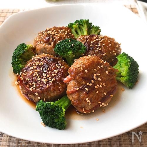 豚ひき肉と牛蒡のつくね・照り焼きソース