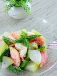 冬瓜と桃とモッツァレラチーズのさっぱりサラダ