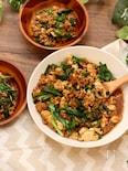 炒めるだけで簡単♪豆腐とひき肉の甘味噌いため♪
