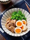 ゆで卵と鶏肉の甘辛煮【#作り置き#お弁当#煮るだけ】