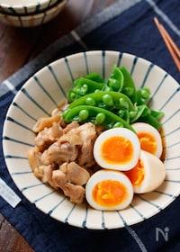 『ゆで卵と鶏肉の甘辛煮【#作り置き#お弁当#煮るだけ】』