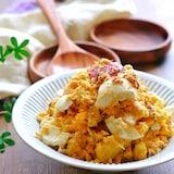 さつまいもとゆで卵とツナのマヨサラダ