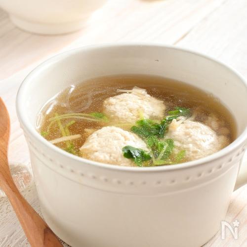 出汁不要。ふわっふわ!鶏団子スープ