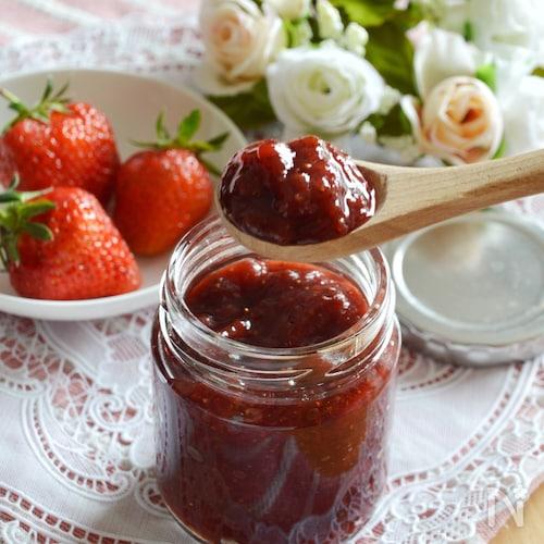 基本のいちごジャム。ごろごろ果実感!砂糖控えめ。