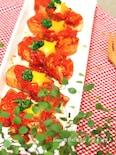トマトソースで楽しむ高野豆腐の豚バラ巻き