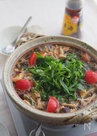 『今夜鍋にしよ♡煮込み5分『たっぷりきのこのサンラータン鍋』』