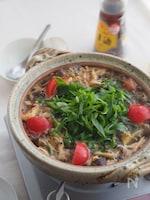今夜鍋にしよ♡煮込み5分『たっぷりきのこのサンラータン鍋』