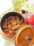 【STAUB】鶏肉と夏野菜のトマト煮込み(カチャトーラ風)