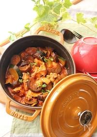 『【STAUB】鶏肉と夏野菜のトマト煮込み(カチャトーラ風)』