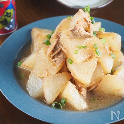 【めんつゆ使用】じゅんわりおいしいツナと大根のうま煮