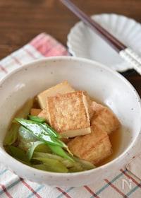 『厚揚げ豆腐と長ネギの煮物【作り置き】』