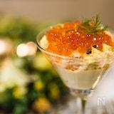 蟹とズッキーニのジュレ&枝豆豆腐ムース