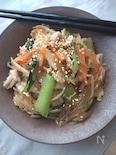 ご飯が進む☆焼肉のタレで簡単豚バラと野菜の春雨炒め
