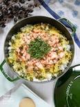 昆布炊いた旨だしご飯の【鍋ごとちらし寿司】