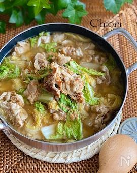 簡単♩大満足♩豚バラと白菜の胡麻味噌スープ
