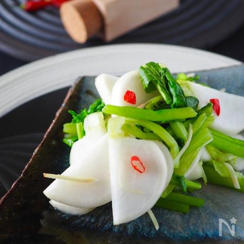 生姜風味のかぶの浅漬け【食塩なし】うま味は2つの調味料のみ