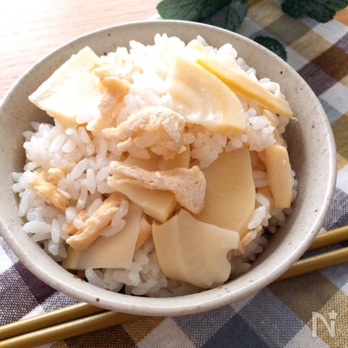 具にも味がしっかりだから美味しい♡我が家の白だしで作る筍ご飯