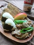 お弁当に〜豚こまと玉ねぎのマッシュルームソース炒め〜