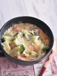 クイック朝食!レンジで簡単♪トマトのマグカップドリア風