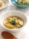 芽キャベツとたけのこの春スープ