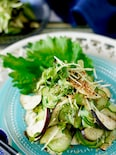 【ポリ袋で作ってすぐ食べられる】大葉たっぷり無限なすきゅうり