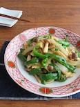 野菜不足解消に◎たまねぎとピーマンとしめじの生姜じょうゆ炒め