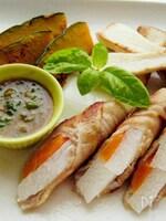 〈くらし薬膳〉長芋の豚肉巻 ニラ味噌ソース