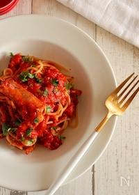 『【旨み溢れる!】赤海老のトマトパスタ』