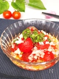 ルビーの様な輝き♡プチトマト&オニオンのさっぱり和風マリネ