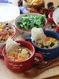 ヘルシー♡鶏ひき肉と彩り野菜のメキシカン豆乳カレースープ