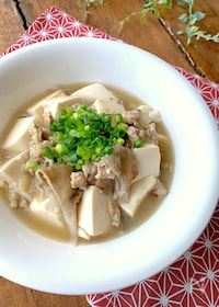 『免疫力アップ〝舞茸と豆腐の鶏あんかけ〟調味料ひとつでおいしい』