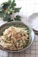 ドレッシングが美味しい♡長芋とカニカマのごま味噌マヨサラダ