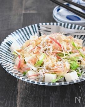 豆腐と水菜の和風サラダ・甘酢ドレッシング