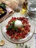 イタリアンな冷製パスタ!トマトとブッラータのクルダイオーラ
